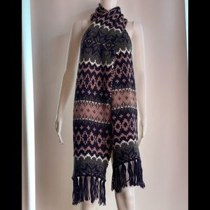 NWT Levi's Multicolored Long Scarf